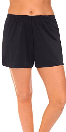 swimsuitsforall Women's Plus Size Loose Short 18 Black