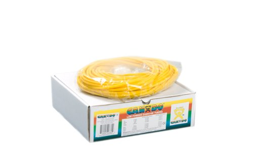 100' Low Powder Exercise Tubing Size / Color: X-Light / Yellow by Cando