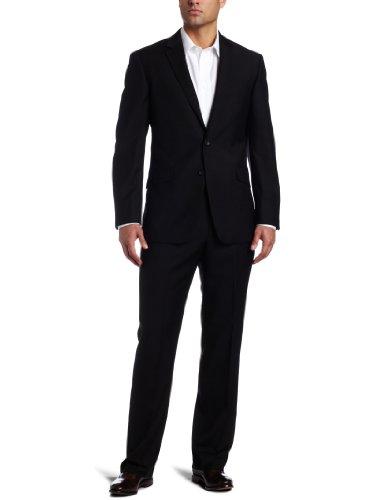 Kenneth Cole Reaction Men's Black Solid Suit Separate Jacket