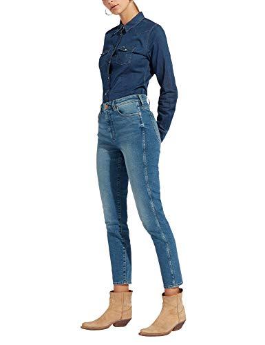 Unique Field Jeans Taille Pine Bleu Femme Wrangler RxAIw0qv0