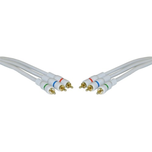 Component Video Cable, 3 RCA Male (RGB), Gold-plated Connectors, 50 foot by CableWholesale