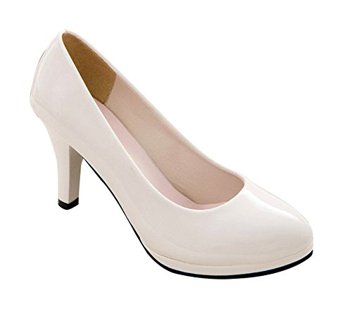 T&Mates Women's Spring & Autumn Round Toe Slip-on Office Working Stiletto Pumps (8 - Hours Valley Oxford