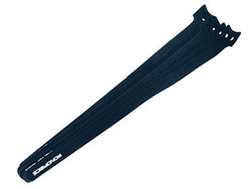 Monoprice Hook & Loop Fastening Cable Ties 13inch, Black (2 Packs of 50)