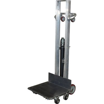 Vestil ALLH-2420-4SFL Aluminum Lite Load Lift, 400 lb. Capacity, Foot Pump, Height Range 6-1/8''-54-1/8'', Overall 27-3/16'' Width x 29-9/16'' Length x 68-7/8'' Height, Platform 24'' x 20'' by Vestil