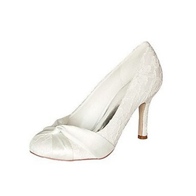 RTRY Las Mujeres'S Wedding Shoes Bomba Básica De Satén Stretch Primavera Otoño Boda &Amp; Noche Bowknot Stiletto Talón Marfil 3A-3 3/4De Marfil Us10.5 / Ue42 / Uk8.5 / Cn43 US8.5 / EU39 / UK6.5 / CN40