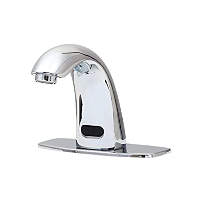 Dyconn Faucet HF1H21-CHR Trinidad Hands/Touch Free Motion Sensor Bathroom Faucet, Polished Chrome