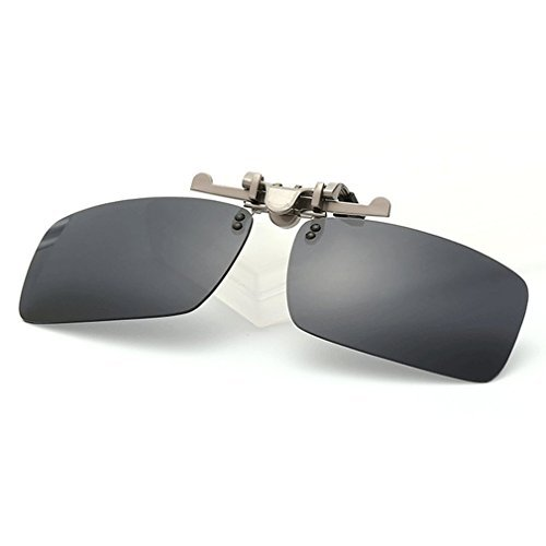 A-Royal Square Myopia Polarized Clip-on Flip up Driving Fishing Traveling Sunglasses (C1) (Sonnenbrille Serengeti Aviator)