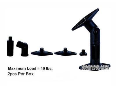 WennoW® ''Set 2 Speaker Wall Mounting Bracket-Black (Max 10LBS)