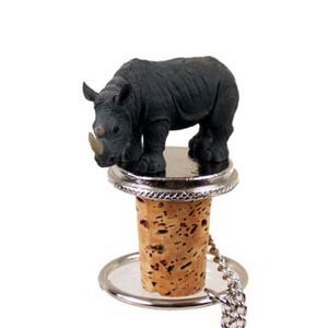 Conversation Concepts Rhinoceros Bottle Stopper