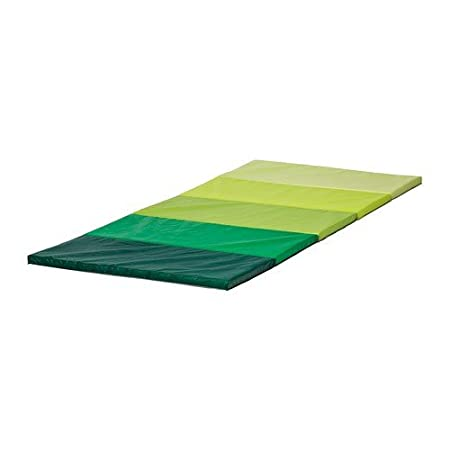 IKEA PLUFSIG - Folding gym mat, green - 78x185 cm