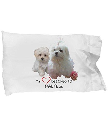 Maltese Dog Lover Pillow Case- Maltese Dogs Fan Pillow Cover - Maltese Dogs Pillowcase