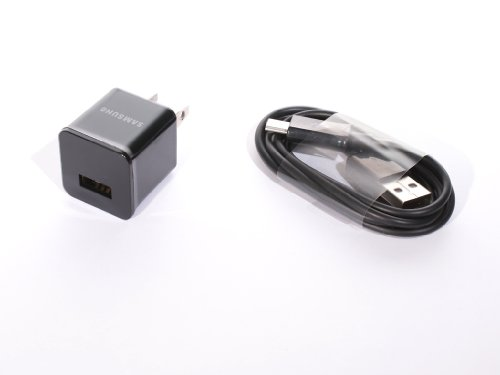 (Samsung OEM 1.0A Travel USB Wall Charger with Detachable Micro USB Data/Charge Cable - Bulk Packaging)