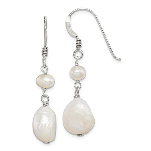 925 Sterling Silver Freshwater Cultured Pearl Drop Dangle Chandelier Earrings Fine Jewelry Gifts For Women For Her