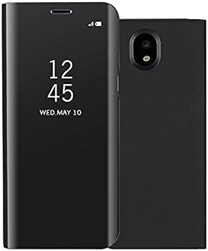 COVO® Espejo Funda para Samsung Galaxy J7 2017 Espejo Mirror Flip ...