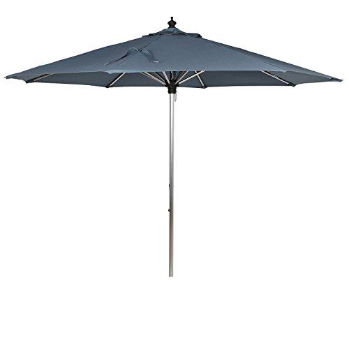 Ulax Furniture 10 Ft Sunbrella Fabric Outdoor Aluminum Umbrella Patio Market Umbrella with Pulley System