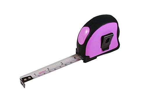 Sanis Enterprises HI-Tech Cinta métrica, 2,5por 6.3cm, Color Rosa