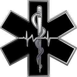 Reflective Helmet EMT Star of Life 3 Inch Silver