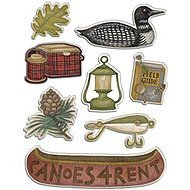 American Traditional Design Dome Stickers Great Outdoors Gems- - Earthtone Gems