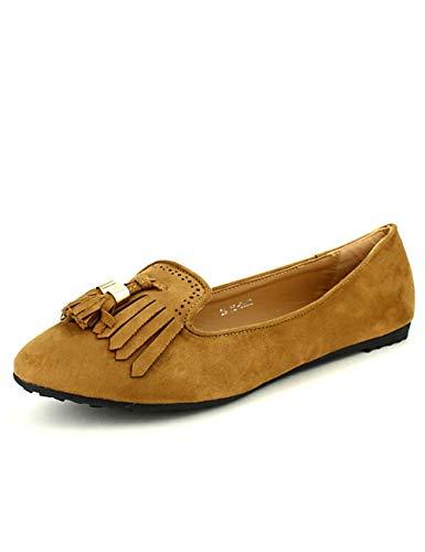 Femme Chaussures Caramel Cinks Simili Mocassins Camel Peau Cendriyon w0qYX80