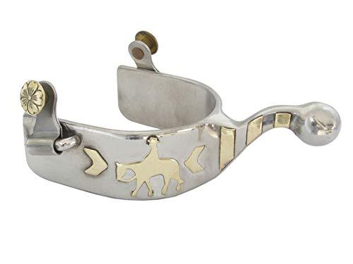 AJ Tack Wholesale Humane Show Spurs Knob End Pleasure Horse Riding Motif Brass Buttons - Spurs End Knob