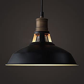 YOBO Lighting Antique Industrial Barn Hanging Pendant Light with Metal Dome Shade Matte Black & CLAXY Ecopower Industrial Barn Mini Metal Pendant Light 1 Light ... azcodes.com