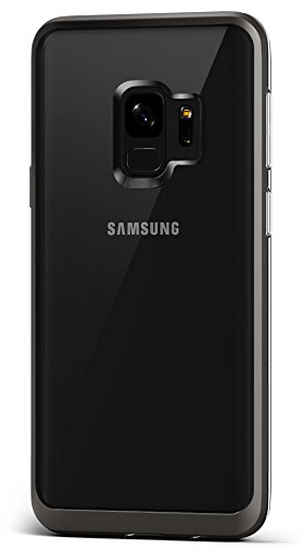 Galaxy S9 Case :: VRS :: Transparent Crystal Thin Cover :: Clear Slim Fit :: Hard Drop Protective Bumper for Samsung Galaxy S9 (Crystal Bumper) (Metal Black)