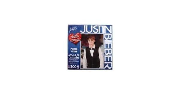 Amazoncom Justin Bieber 300 Piece Poster Puzzle Black Vest