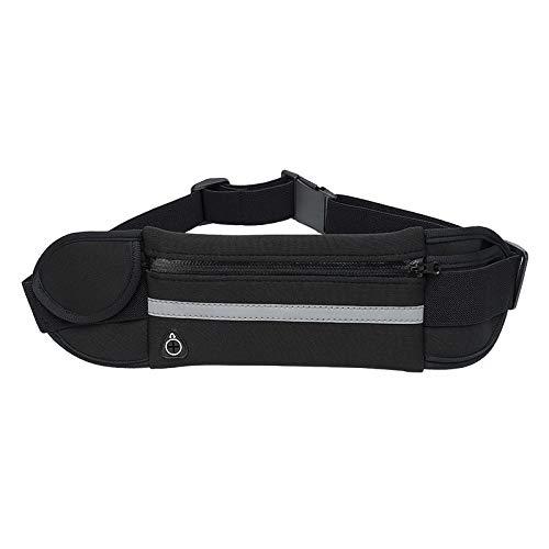 Waist Pack, Waterproof Runners Belt Phone Holder Fit All Phone Models, Reflective Sport Waist Pack,Adjustable Sport Waist Pack Fit Most Waist Sizes ()
