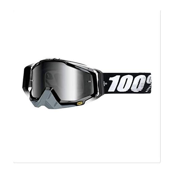 Lista Adult Motorbike ATV/Dirt Bike Racing Transparent Goggles with Adjustable Strap -Unisex-Adult Goggle (Black,Mirror