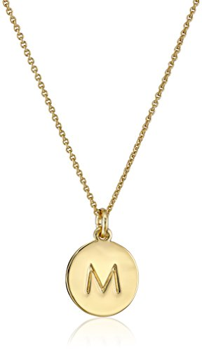 spade Gold Tone Alphabet Pendant Necklace product image