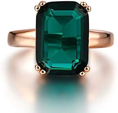 Gamloious 100/% Bague Emeraude Naturelles RoseZircon Diamant Bagues de Femmes Bagues de fian/çailles de Mariage de Pierre gemme Verte FineGift Hot 7