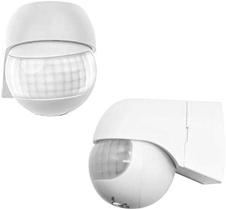 180/°swiveling OurLeeme PIR Sensor Outdoor Wall Mounted Infrared Security Motion Sensor Detector Range max.30m