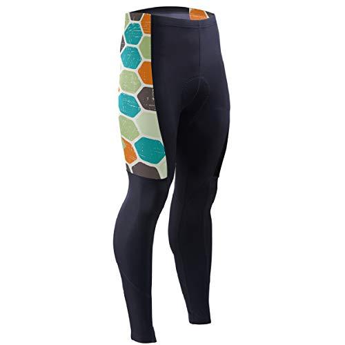 TMNT Retro Men's Bicycle Pants Padded Cycling Pants Leggings Outdoor Cyclist Riding Bike Wear Black]()