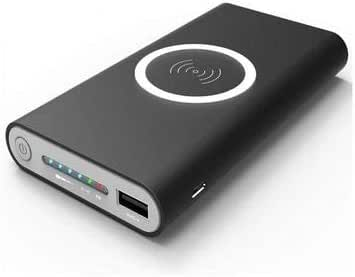 10000 mAh Power bank 2.1 Amp and wireless charger for Samsung phone or any mobile with Qi feature - Black