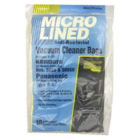10 Replacement Kenmore Model 5055 / 50557 / 50558 Microlined Bags by DVC