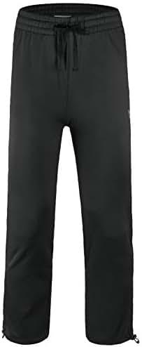 Baleaf Boy's Fleece Pants Youth Zip Pockets Warm Up Sweatpants