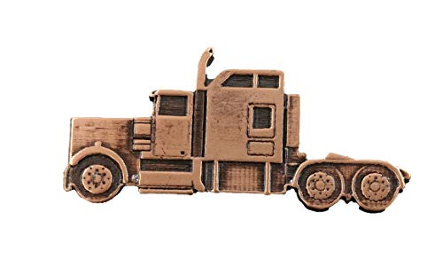 Creative Pewter Designs Semi Truck Copper Plating Pin, AC236