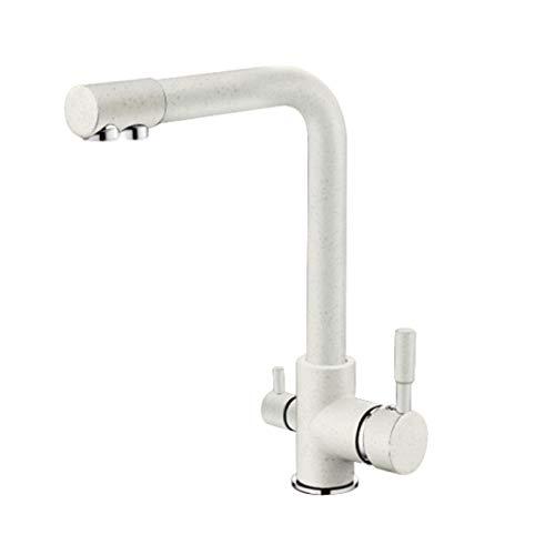 D YAWEDA Waterfilter Taps Kitchen Faucets Mixer Drinking Water Filter Multi-color Kitchen Faucet Sink Tap Water Tap Black White,C