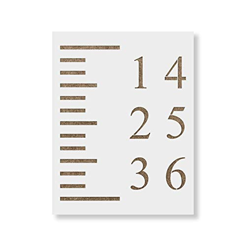 Growth Chart Stencil Template - Reusable Stencil for Growth Chart Rulers - Better Than ()