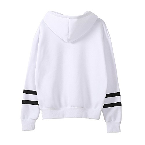 Rayures Chic Sweat Kangrunmy Imprim Manches Hoodie Capuche Tunique Longues Pullover F Chemise Tops Sweatshirt Blouse Shirt Chemisier Femmes Sweat 4p7wZq40