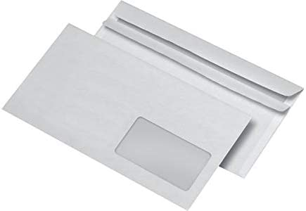 MAILmedia 222340 Briefumschl/äge DIN Lang selbstklebend mit Fenster