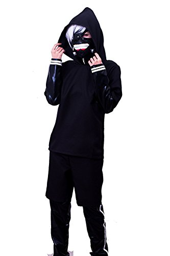 ROLECOS Mens Japanese Anime Cosplay Costumes Faux Leather Battleframe Suit S - Ken Kaneki Cosplay Costume