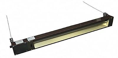 Electric Infrared Heater, Indoor, Outdoor, Ceiling/Suspended, Voltage 208, Watts 3000