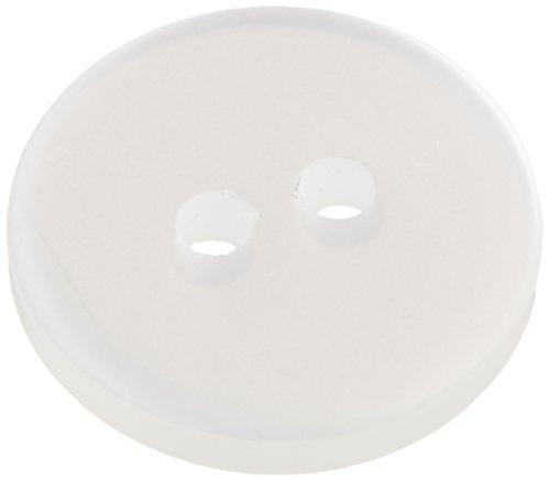 White 2 Hole Button - 2
