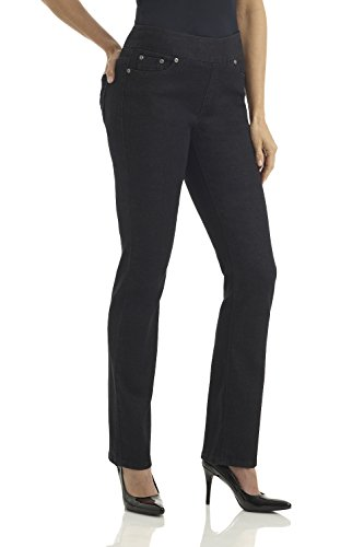 Tight Fit Jeans (REKUCCI Jeans Women's Ease In To Comfort Fit Stretch Straight Leg Denim Pants (18,Black Denim))