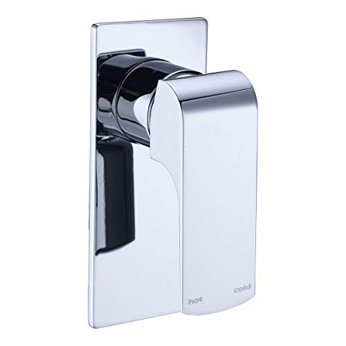 Wall Valve Mount Shower (ZUKKI Wall Mount Shower Mixer Water Mixer Valve and Trim Kit, Shower Faucet Valve Bathroom Faucet Valve Trim (Sigle Function Shower Valve 2314-09))