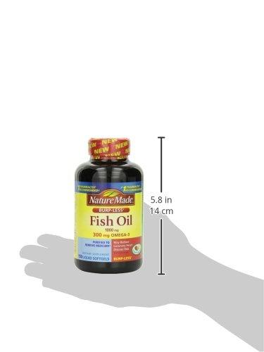 Nature made burpless fish oil 1000 mg w omega 3 300 mg for Nature made fish oil 1000 mg