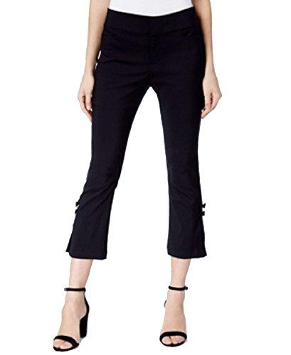 (INC International Concepts Petite Bow-Detail Cropped Capri Pants (Deep Black, 8P))