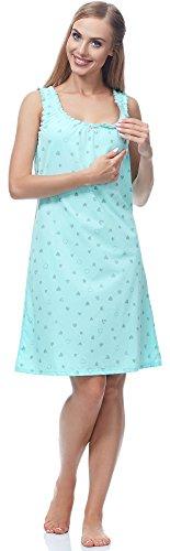 Italian Fashion IF Lactancia Camisón para Mujer Aleta 0114 Pistacho