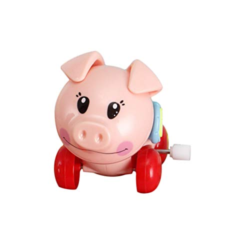 Toyvian Wind Up Toys Pig Shaped Toys Funny Plastic Clockwork Toy for Kids Children (Random)